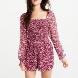 Abercrombie & Fitch Pink Paisley Romper XS